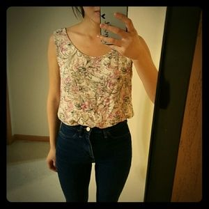 Floral Tank Top Sleeveless blouse #141